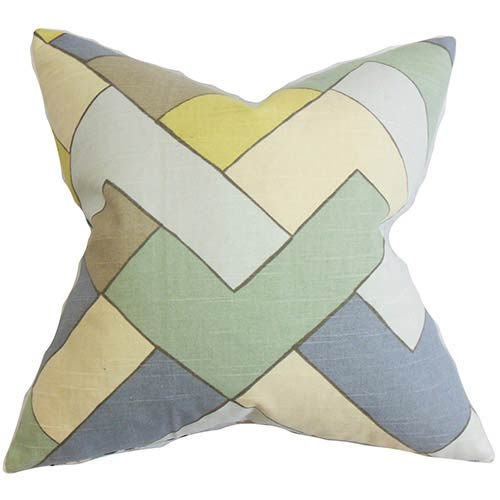The Pillow Collection Jeppe Blue 18 x 18 Geometric Throw Pillow