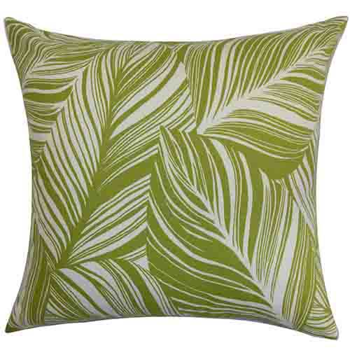 The Pillow Collection Lehel Green 18 x 18 Floral Throw Pillow