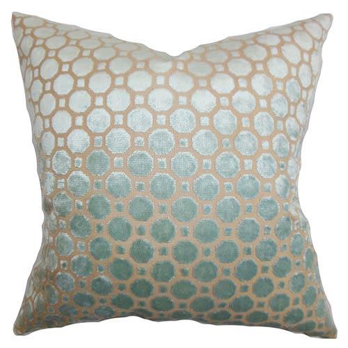 Kostya Blue 18 x 18 Geometric Throw Pillow