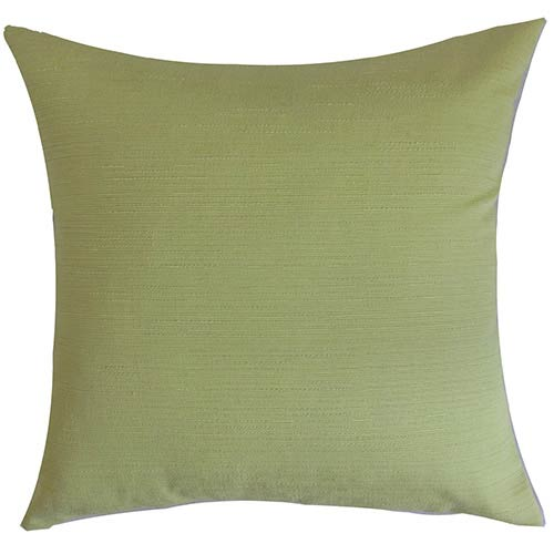 The Pillow Collection Ranau Green 18 x 18 Solid Throw Pillow