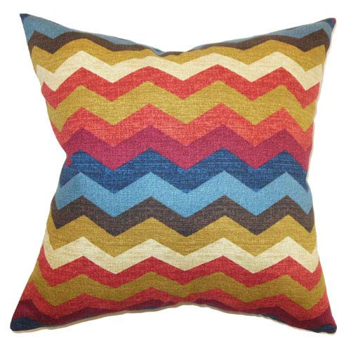 The Pillow Collection Aiome Zigzag Pillow Gem