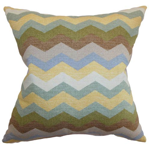 The Pillow Collection Aiome Zigzag Pillow Pebble
