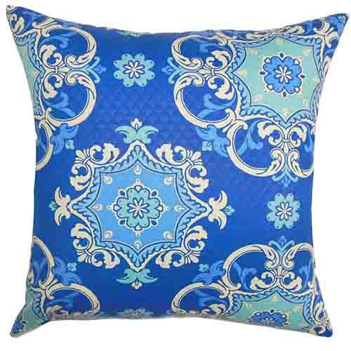 The Pillow Collection Nessan Blue 18 x 18 Geometric Throw Pillow
