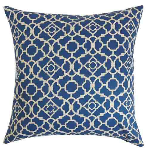 The Pillow Collection Taife Blue 18 x 18 Geometric Throw Pillow