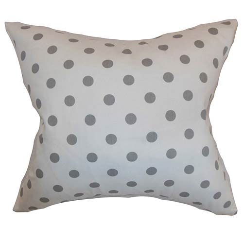The Pillow Collection Nancy Gray 18 x 18 Patterned Throw Pillow