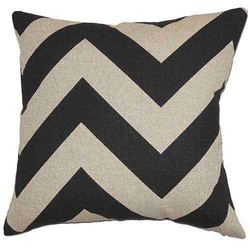 Eir Black 18 x 18 Zigzag Throw Pillow