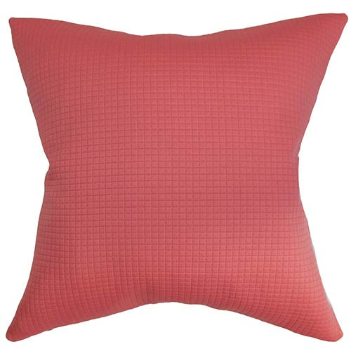 The Pillow Collection Minrodel Red 18 x 18 Solid Throw Pillow