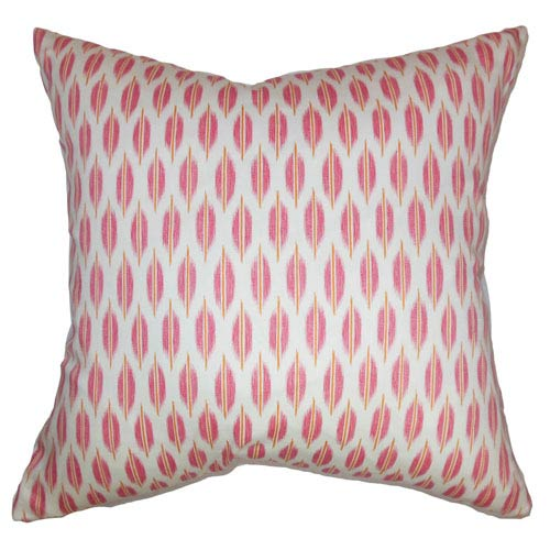 The Pillow Collection Ebb Web Pillow Bubblegum