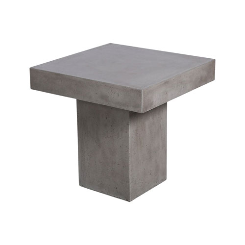 Millfield Polished Concrete Ourdoor Side Table
