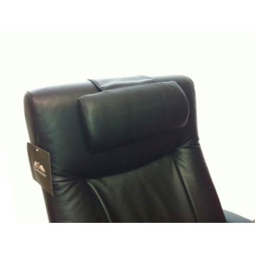 Black Top Grain Leather Cervical Pillow