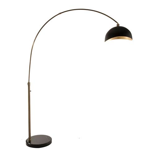 Captivating NOVA Of California Luna Bella Weathered Brass One Light Arc Lamp