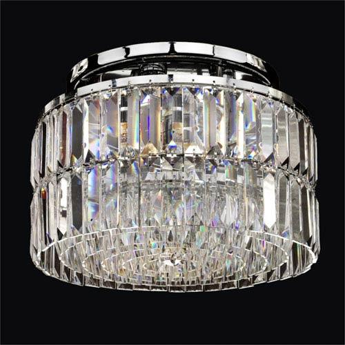 GLOW Lighting Reflections Crystal Five Light Flush Mount