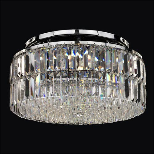 Reflections Crystal Four Light Flush Mount