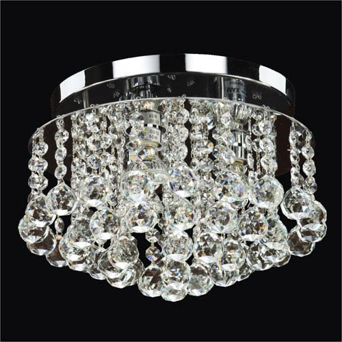 GLOW Lighting Prestige Crystal Three Light Flush Mount