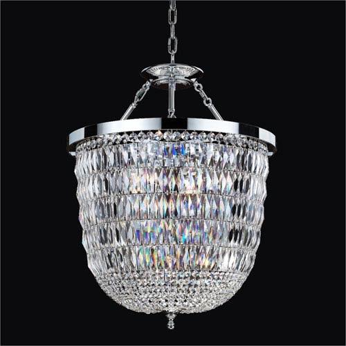 GLOW Lighting Lucia Crystal Three Light Pendant