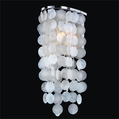 Ensconced One Light Wall Sconce with Capiz Shell