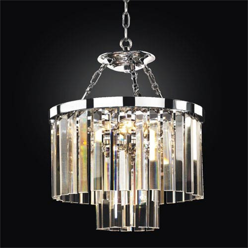 Timeless Chrome 16-Inch Convertible Chandelier