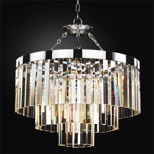 Timeless Chrome 23-Inch Convertible Chandelier