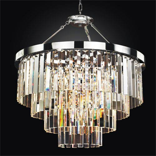 timeless lighting. GLOW Lighting Timeless Chrome 28-Inch Convertible Chandelier
