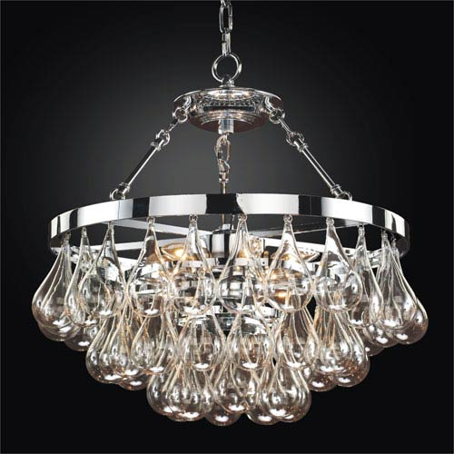 Concorde Chrome 19-Inch Convertible Chandelier