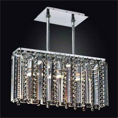 GLOW Lighting Sonesta Chrome 17-Inch Convertible Island Pendant