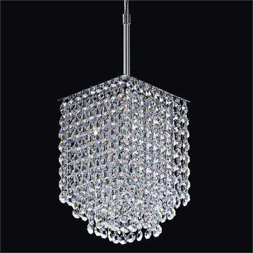 GLOW Lighting Fuzion x Crystal One Light Mini Pendant