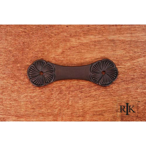 RK International Inc Oil Rubbed Bronze Daisy Pull Backplate