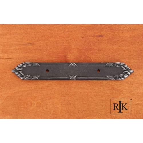 RK International Inc Distressed Nickel Ornate Edge Pull Backplate