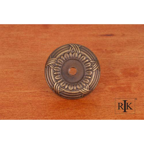 RK International Inc Antique English Cross and Petal Knob Backplate