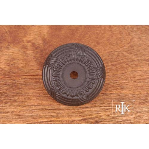 RK International Inc Oil Rubbed Bronze Cross and Petal Knob Backplate