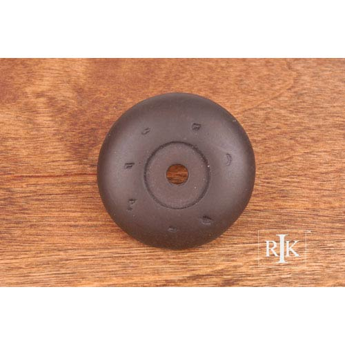 RK International Inc Oil Rubbed Bronze Distressed Knob Backplate