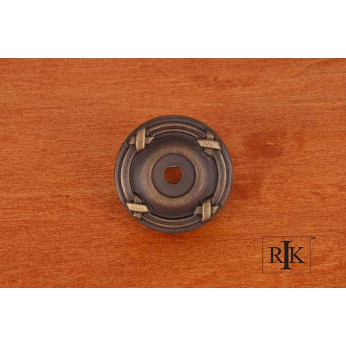 RK International Inc Antique English Line and Cross Knob Backplate