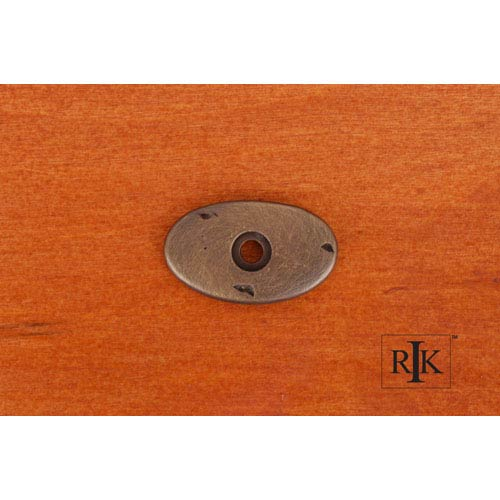 RK International Inc Antique English Distressed Oval Backplate