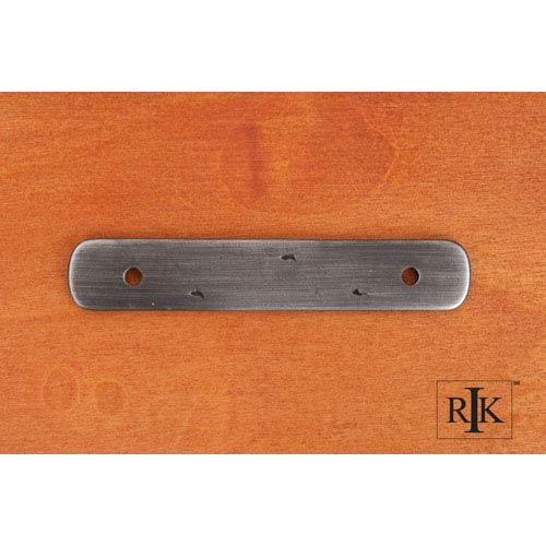 Distressed Nickel Distressed Rectangular Backplate