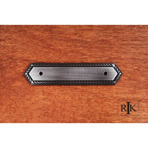 RK International Inc Distressed Nickel Rope Pull Backplate