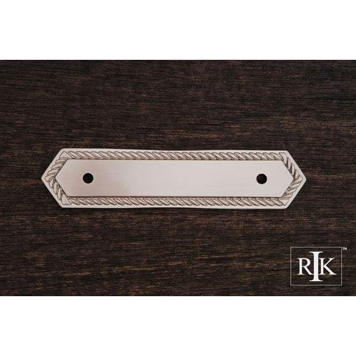RK International Inc Pewter Rope Pull Backplate