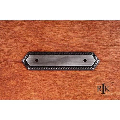 RK International Inc Distressed Nickel Rope Pull Backplate