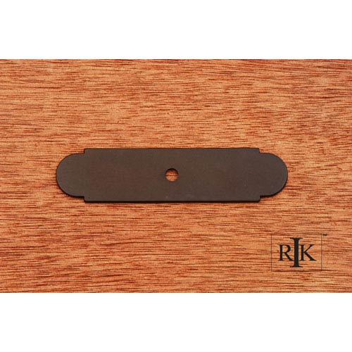 RK International Inc Oil Rubbed Bronze Small Backplate with One Hole
