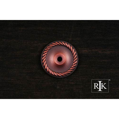RK International Inc Distressed Copper Rope Single Hole Backplate