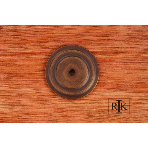RK International Inc Antique English Plain Single Hole Backplate