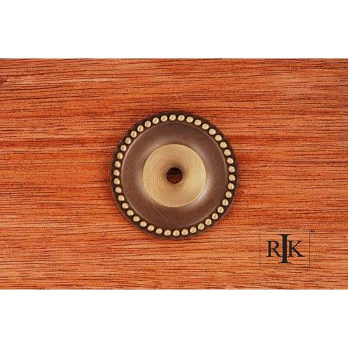 RK International Inc Antique English Beaded Single Hole Backplate