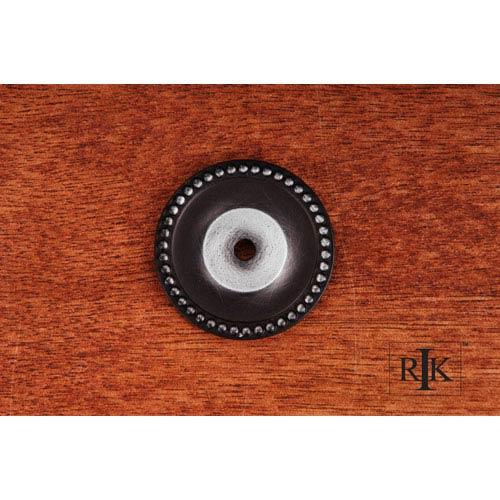 RK International Inc Distressed Nickel Beaded Single Hole Backplate