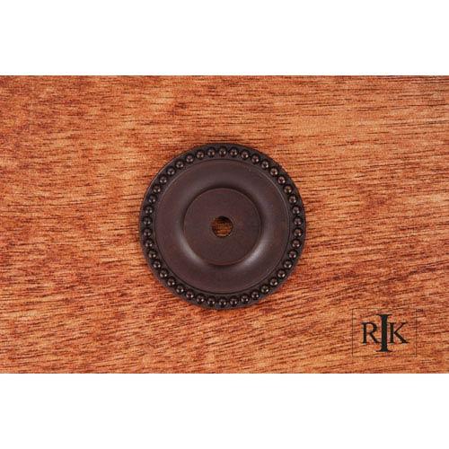 Oil Rubbed Bronze Beaded Single Hole Backplate