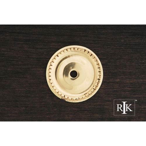 RK International Inc Polished Brass Beaded Single Hole Backplate
