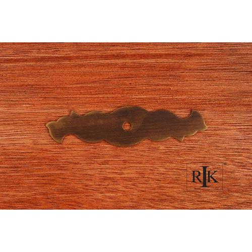 RK International Inc Antique English Curvy Single Hole Backplate