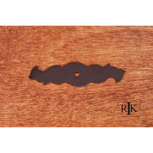 RK International Inc Oil Rubbed Bronze Curvy Single Hole Backplate
