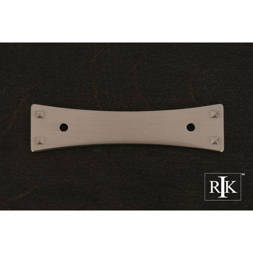 RK International Inc Pewter Bent Rectangle Backplate