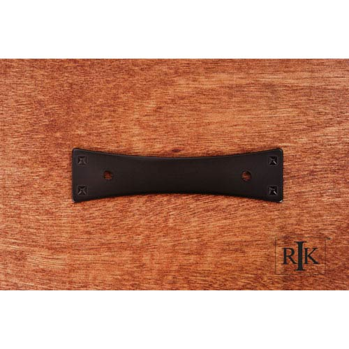 RK International Inc Oil Rubbed Bronze Bent Rectangle Backplate