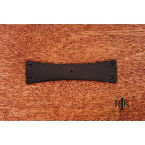 Oil Rubbed Bronze Bent Rectangular One Hole Backplate