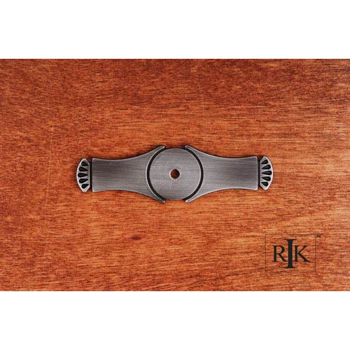 RK International Inc Distressed Nickel Curved Gill Ends Backplate